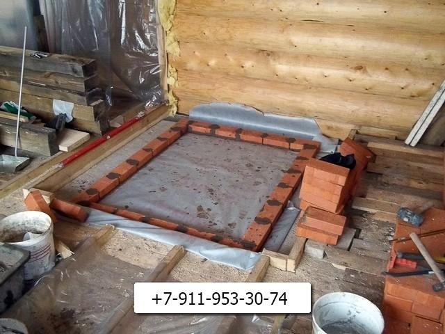 Особенности изготовления фундамента под печь в баню