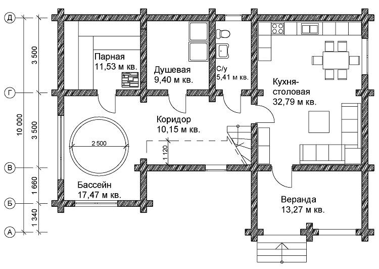 Банный комплекс с бассейном: проекты, фото, принципы строительства