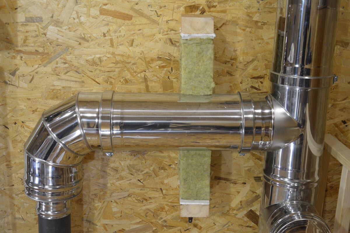 Как сделать трубу в бане