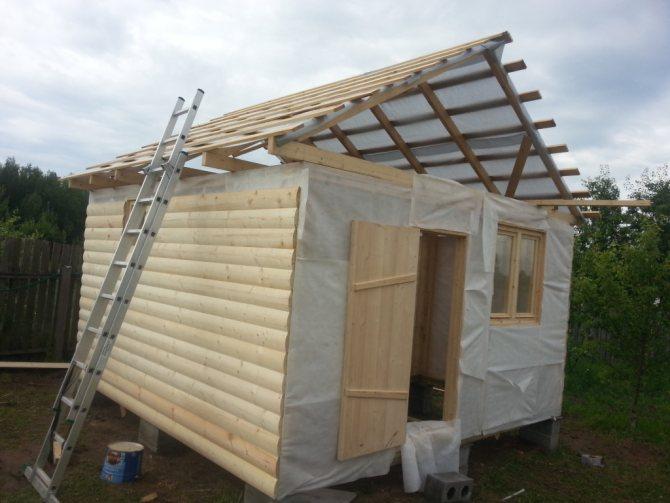 Как построить крышу бани своими руками? какую крышу выбрать и чем покрыть?