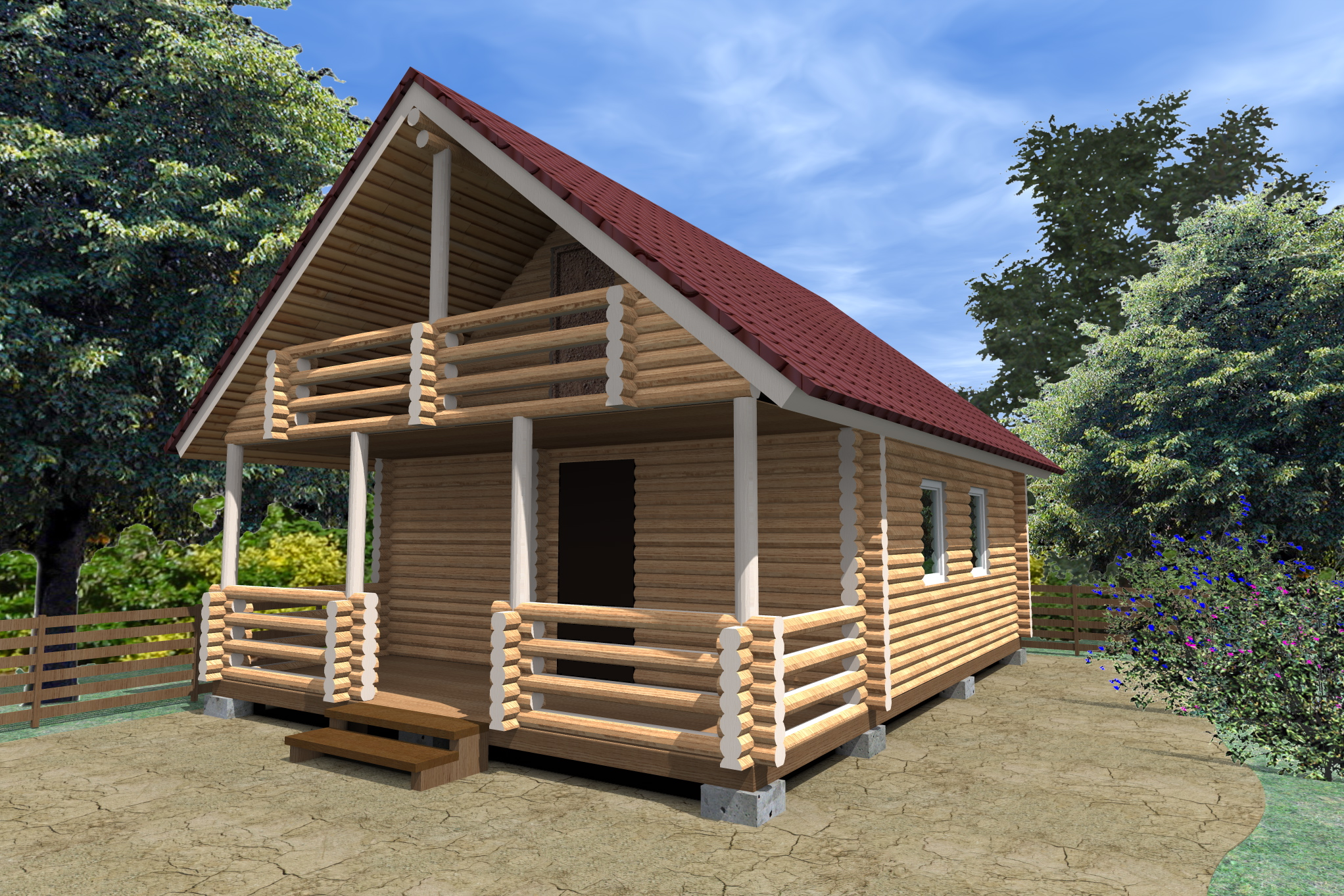 Как возводится двухэтажная баня из бревна