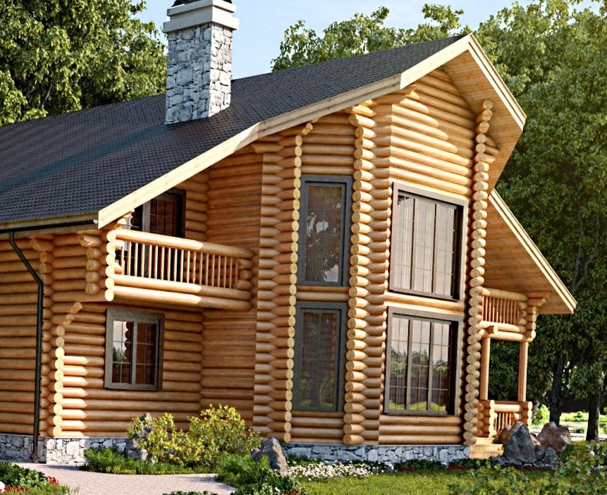 Двухэтажные бани: красивые примеры конструкций
