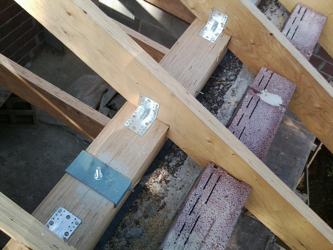Как крепить стропила: к мауэрлату, брусу, балкам двухскатной крыши