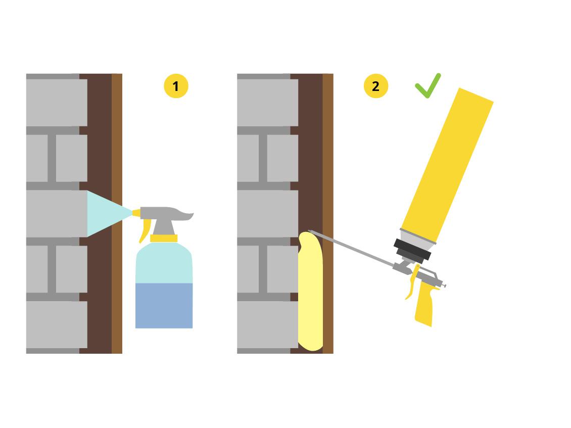 Как пользоваться монтажной пеной при запенивании зазоров оконных и дверных блоков