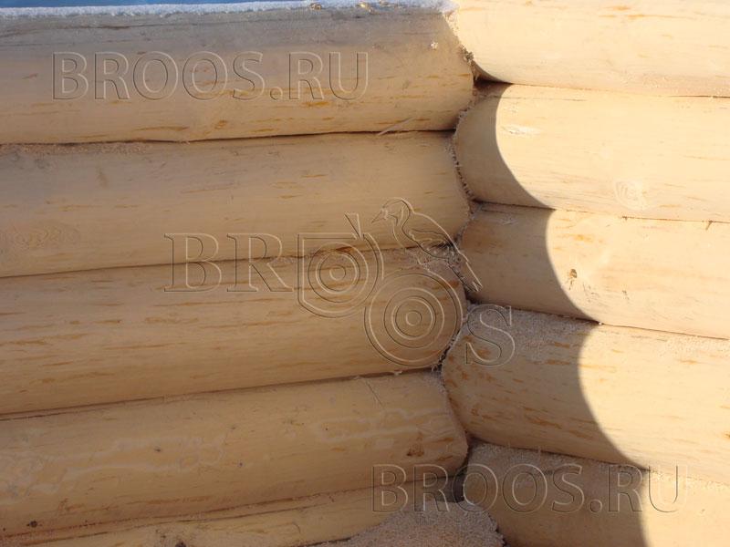 Утепление углов сруба в лапу   срубовъ