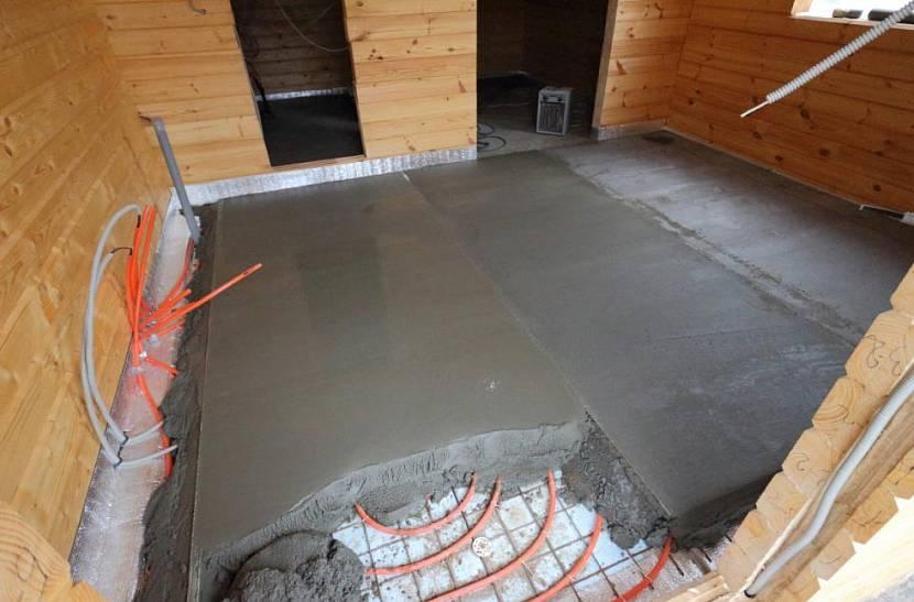 Теплый пол в бане от печки и как сделать водяной пол