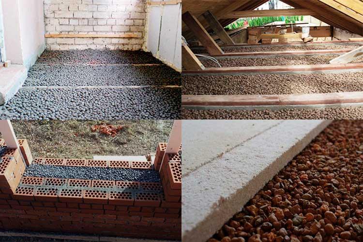 Технология утепления керамзитом потолка в бане