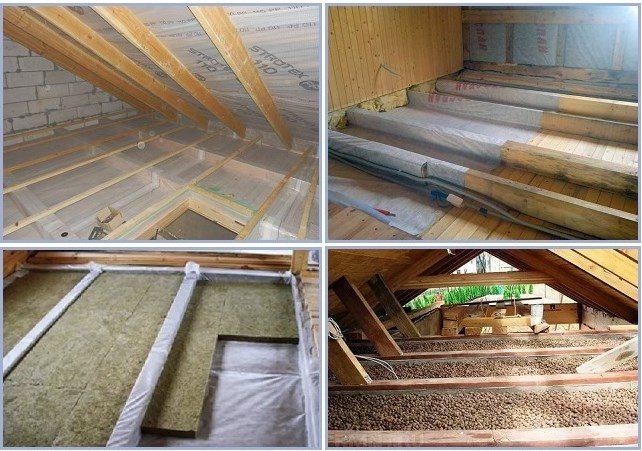 Утепление потолка в бане с холодной крышей - клуб мастеров