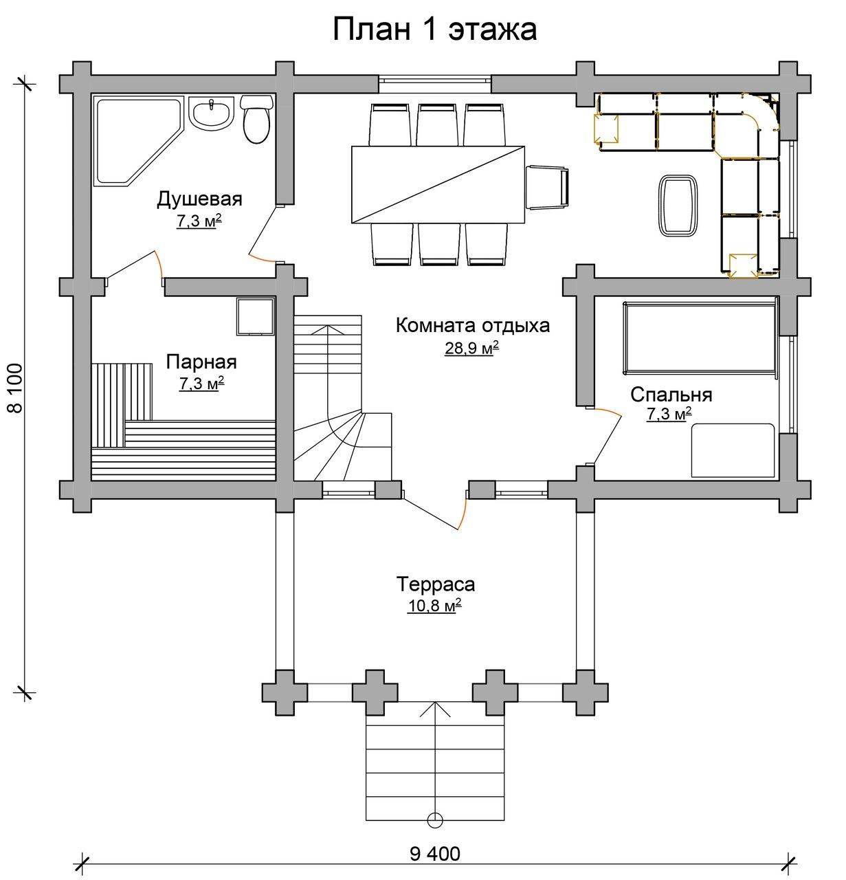 Баня с жилой комнатой: проекты функциональных строений