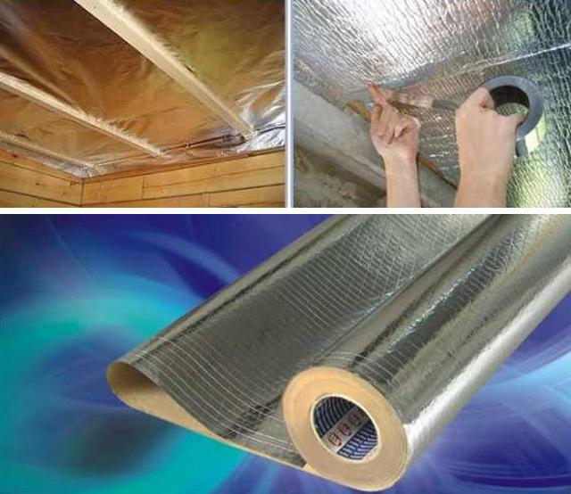 Пароизоляция для бани на потолок