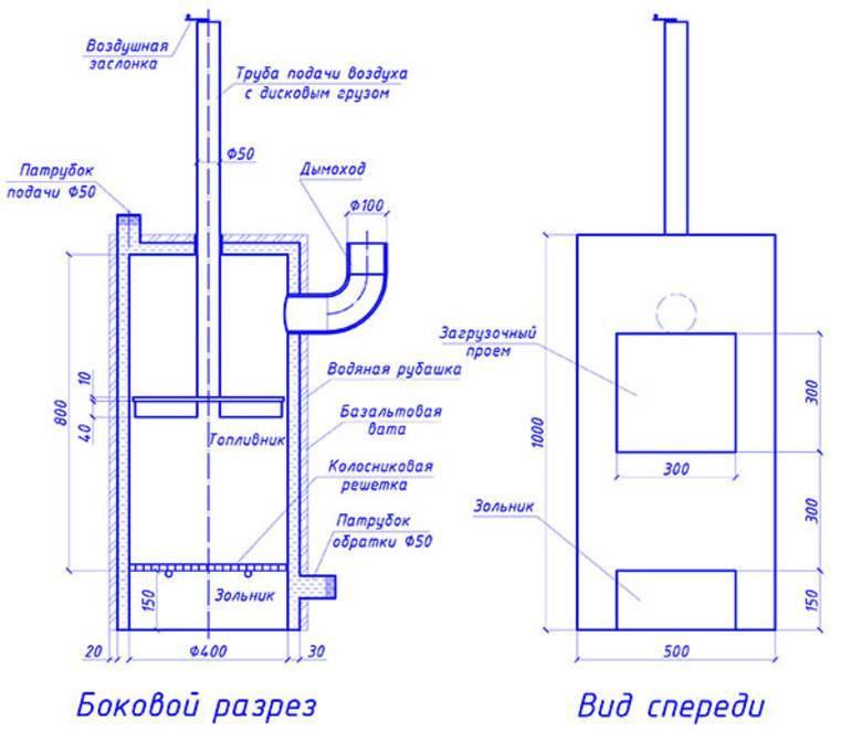 Как сделать ракетную печь для обогрева дома