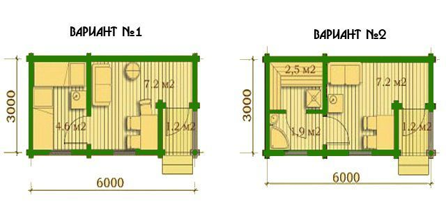 Баня размером 3 на 6: идеи дизайна