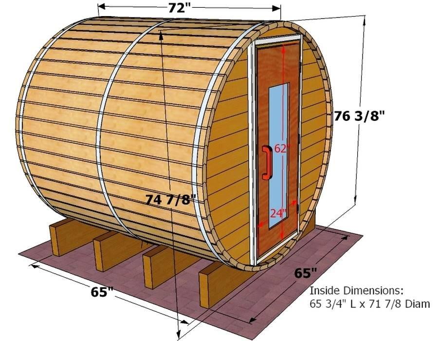 Баня-бочка - устройство и фото вариантов, сборка своими руками