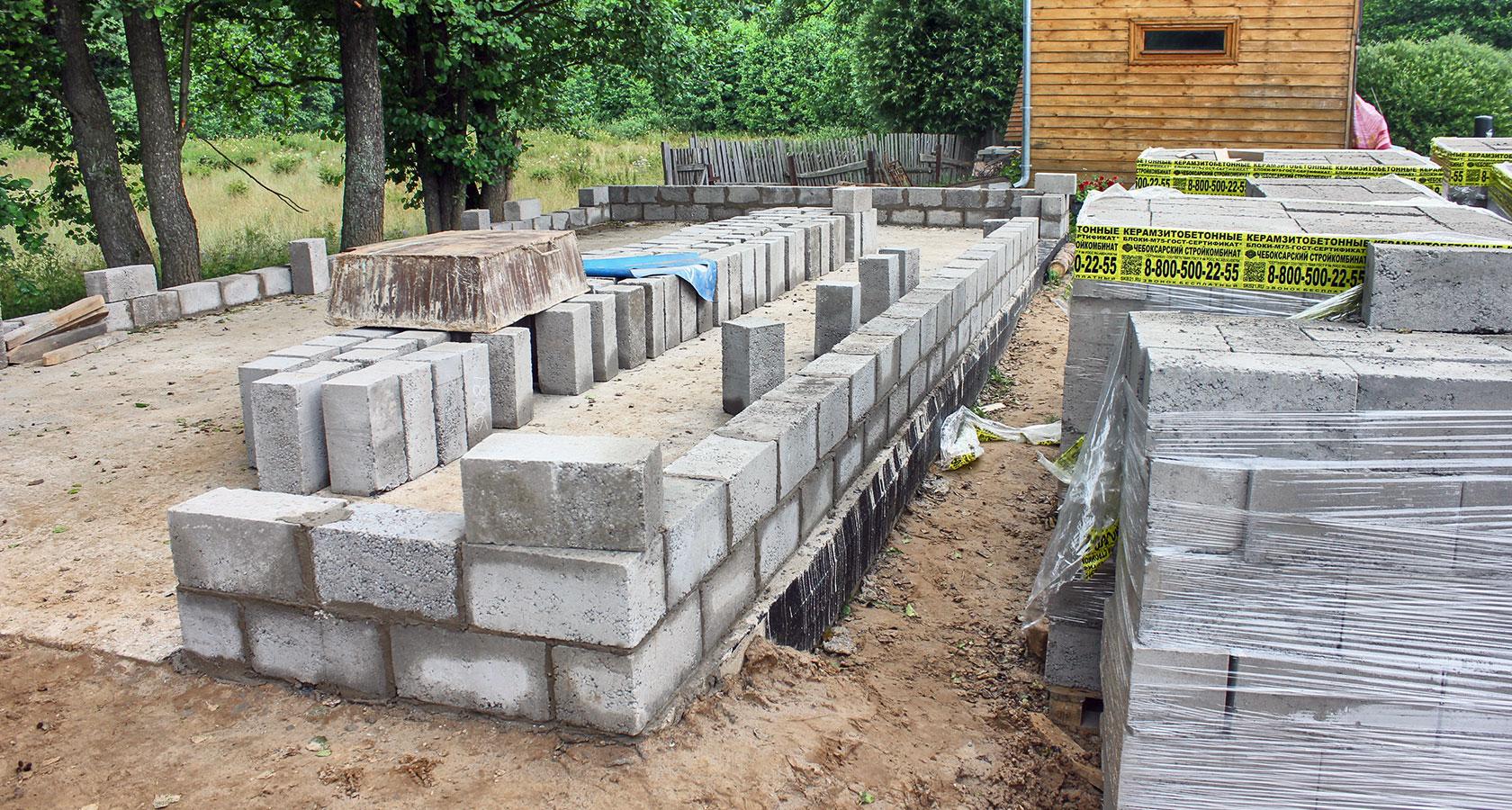 Дом из керамзитобетонных блоков: пошаговая инструкция строительства