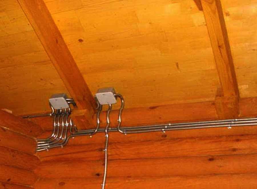 Электропроводка в бане своими руками - схема и порядок монтажа