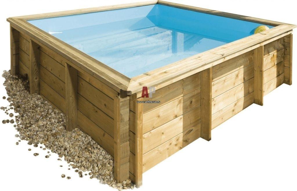 Оригинальная идея: деревянный бассейн на дачном участке