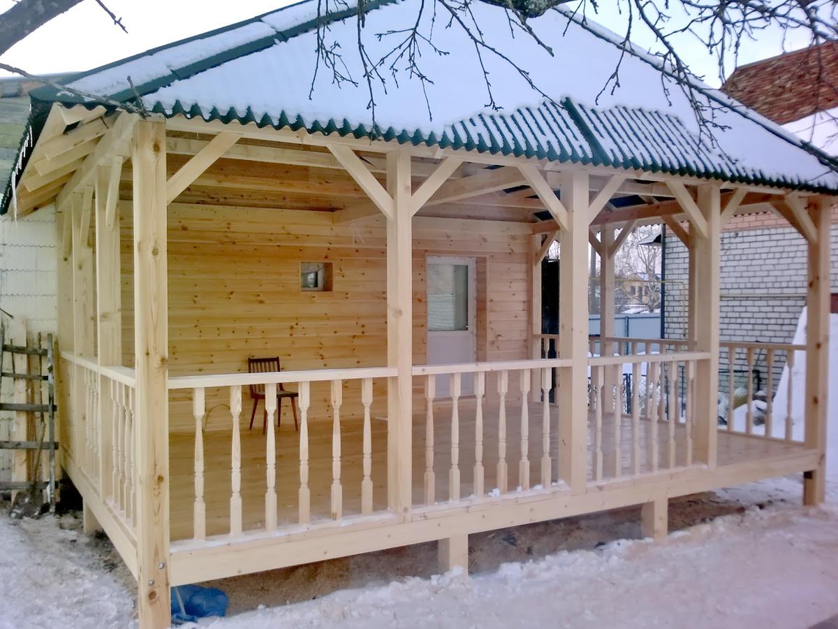 Баня с верандой: отличие от террасы, этапы строительства своими руками, фото и дизайн строения