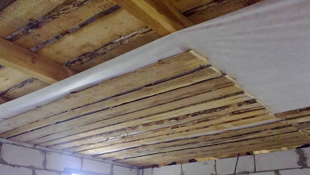 Как сделать настильный потолок в бане? все стадии работы от а до я