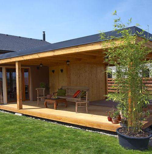 Терраса: 40 проектов пристройки к дому, 100 фото красивого дизайна и планировки