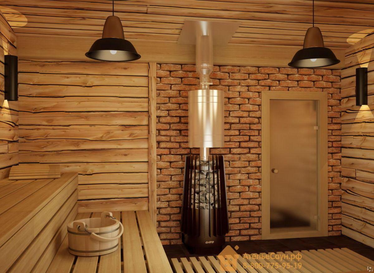 Отделка печи в бане: облицовка кирпичом, камнем, плиткой, штукатуркой