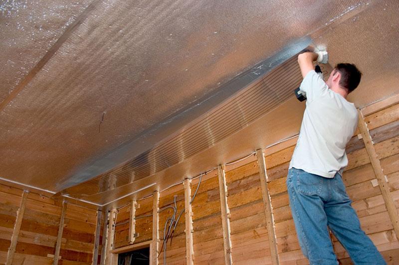 Пароизоляция для потолка в деревянном перекрытии: описание,фото. | строительные материалы