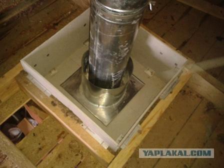 Как монтировать потолочно-проходной узел для бани своими руками