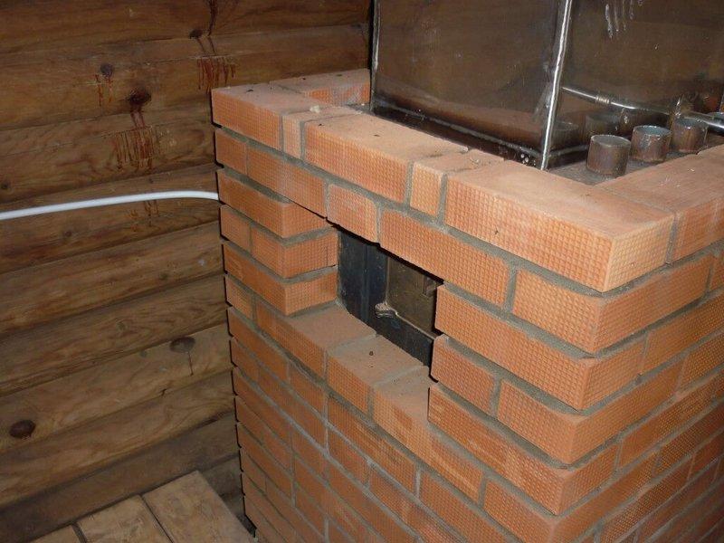 Домашнему мастеру: как обложить металлическую печь в бане кирпичом