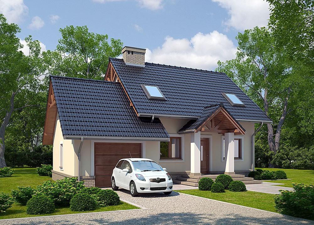Дом с гаражом под одной крышей: проекты, фото, стили