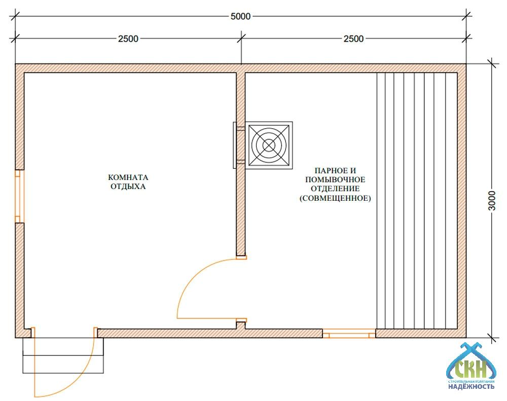 Проект бани 3 на 5 м: фото, примеры. как составить проект бани 3х5?