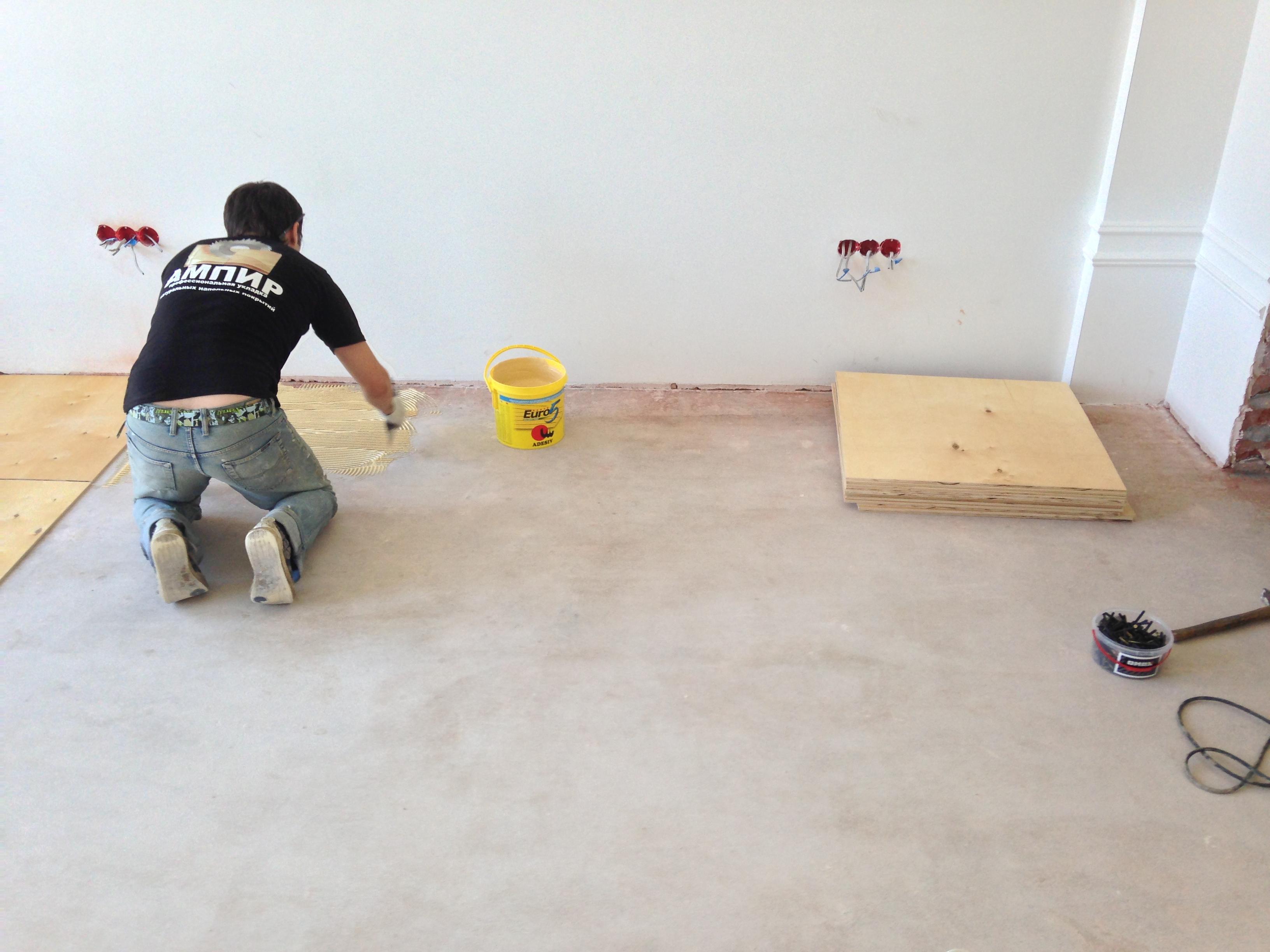 Выравнивание деревянного пола фанерой – технология выполнения работ