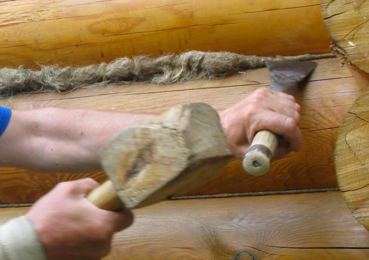 Как конопатить сруб своими руками - пошаговая инструкция!