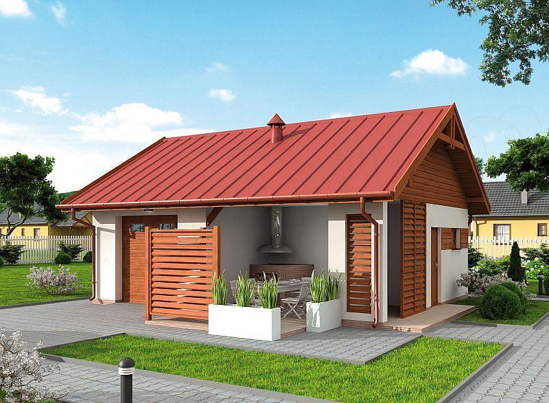 Проекты гаража и бани под один фундамент и крышу