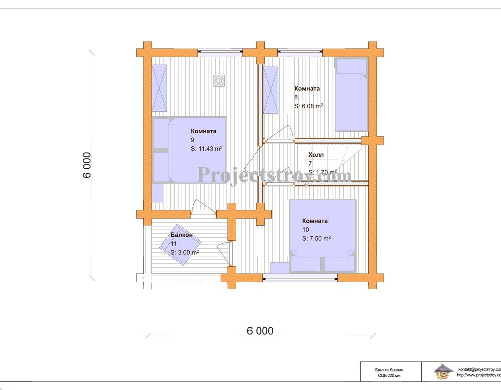 Баня 6х6: размеры, планировка, количество этажей