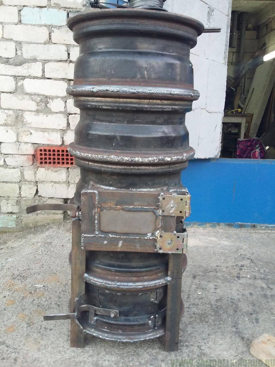 Буржуйка для гаража из старых дисков: подробная инструкция с фотографиями