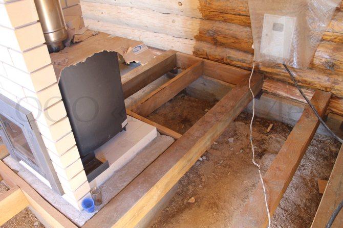 Особенности фундамента под печь в бане