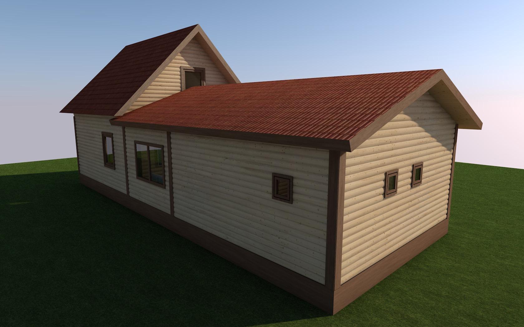 Пристроенная баня к дому - строим баню или сауну