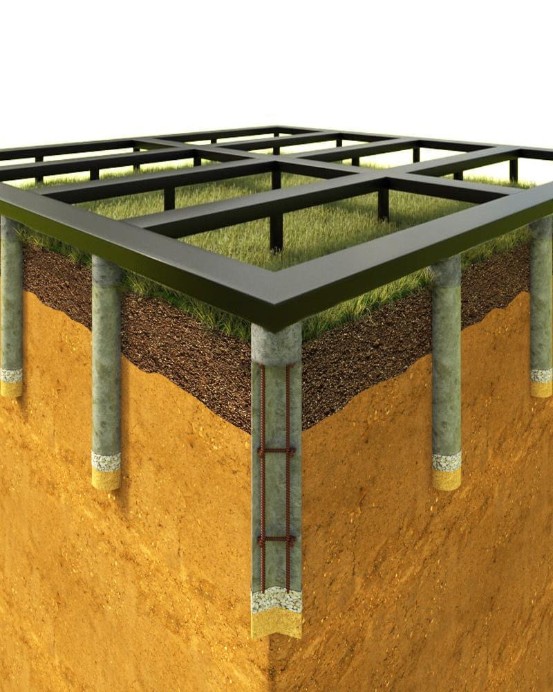 Виды и преимущества свайно-столбчатых фундаментов