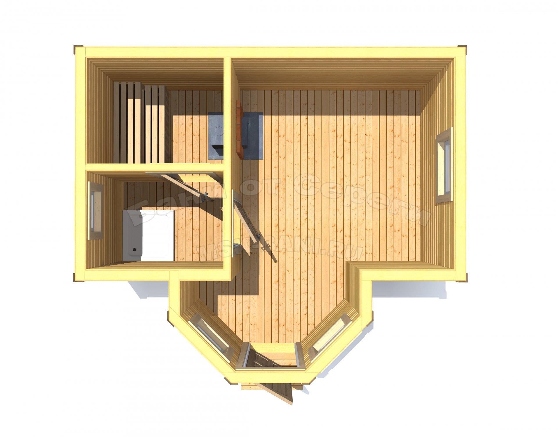 Баня 3 на 4 проекты с размерами, схема и чертежи, планировка из бревна внутри