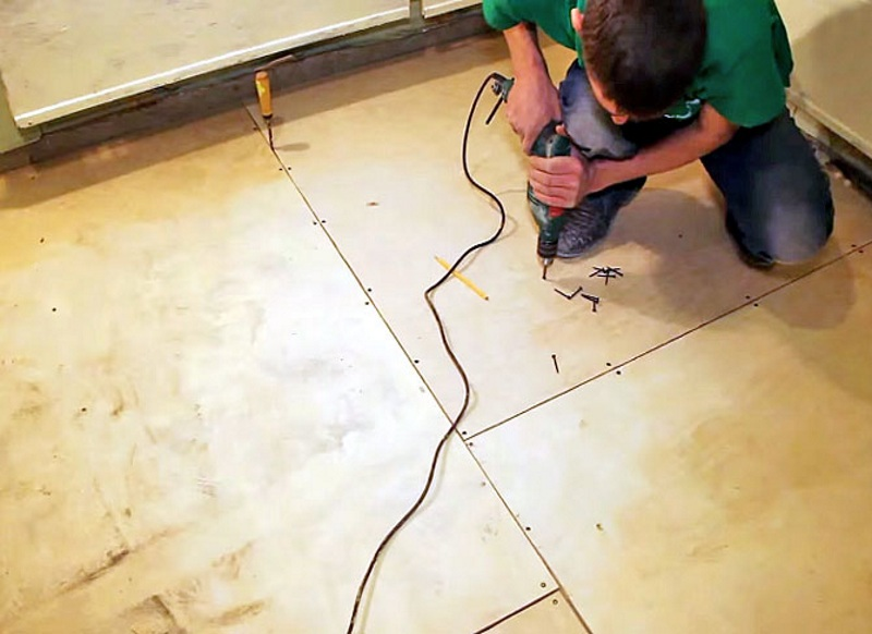 Укладка фанеры на бетонный пол: подготовка к работе и советы профессионалов, этапы монтажа