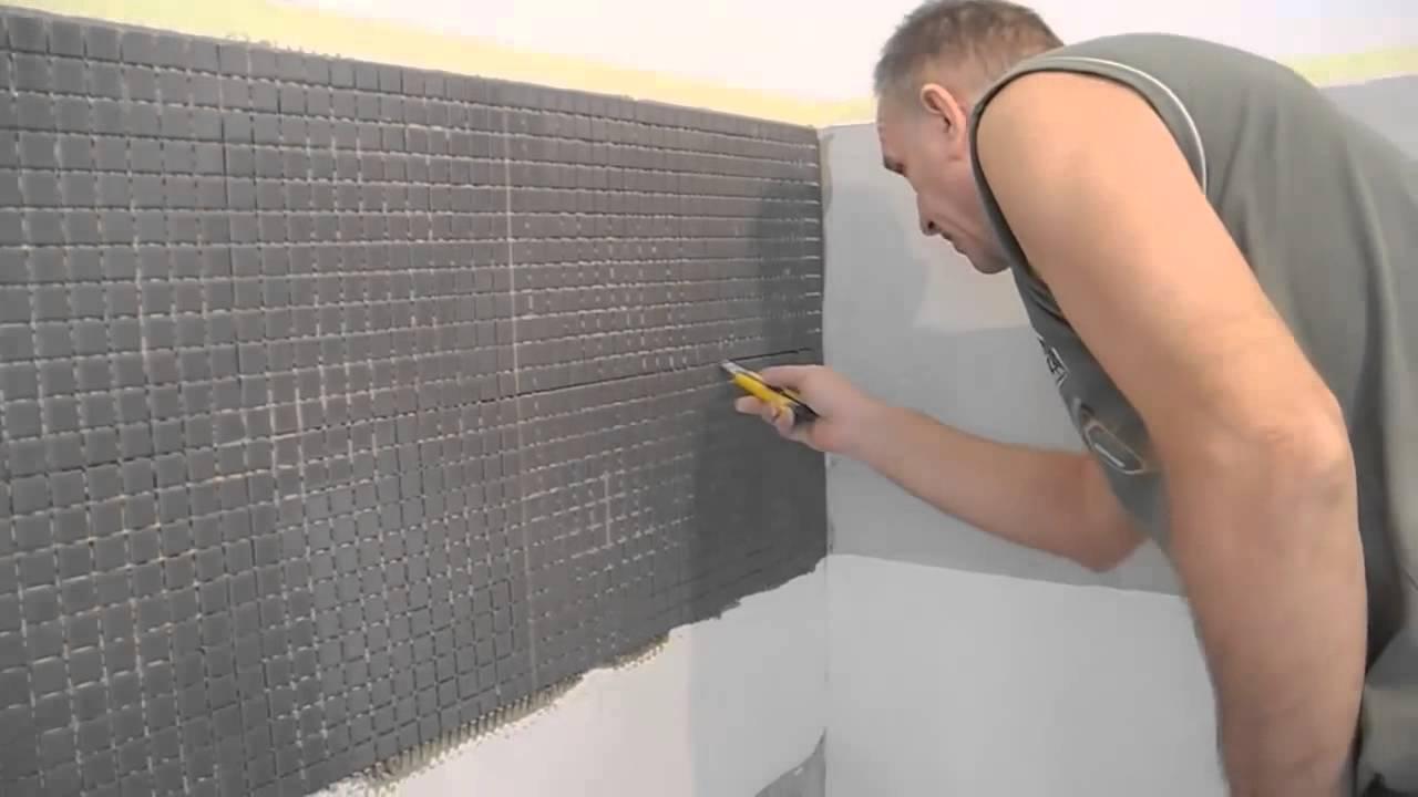 Как сделать укладку мозаики своими руками на стены в кухне