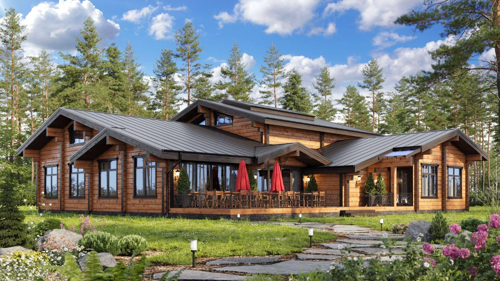 Топ 14 проектов домов из клееного бруса | строительный блог вити петрова