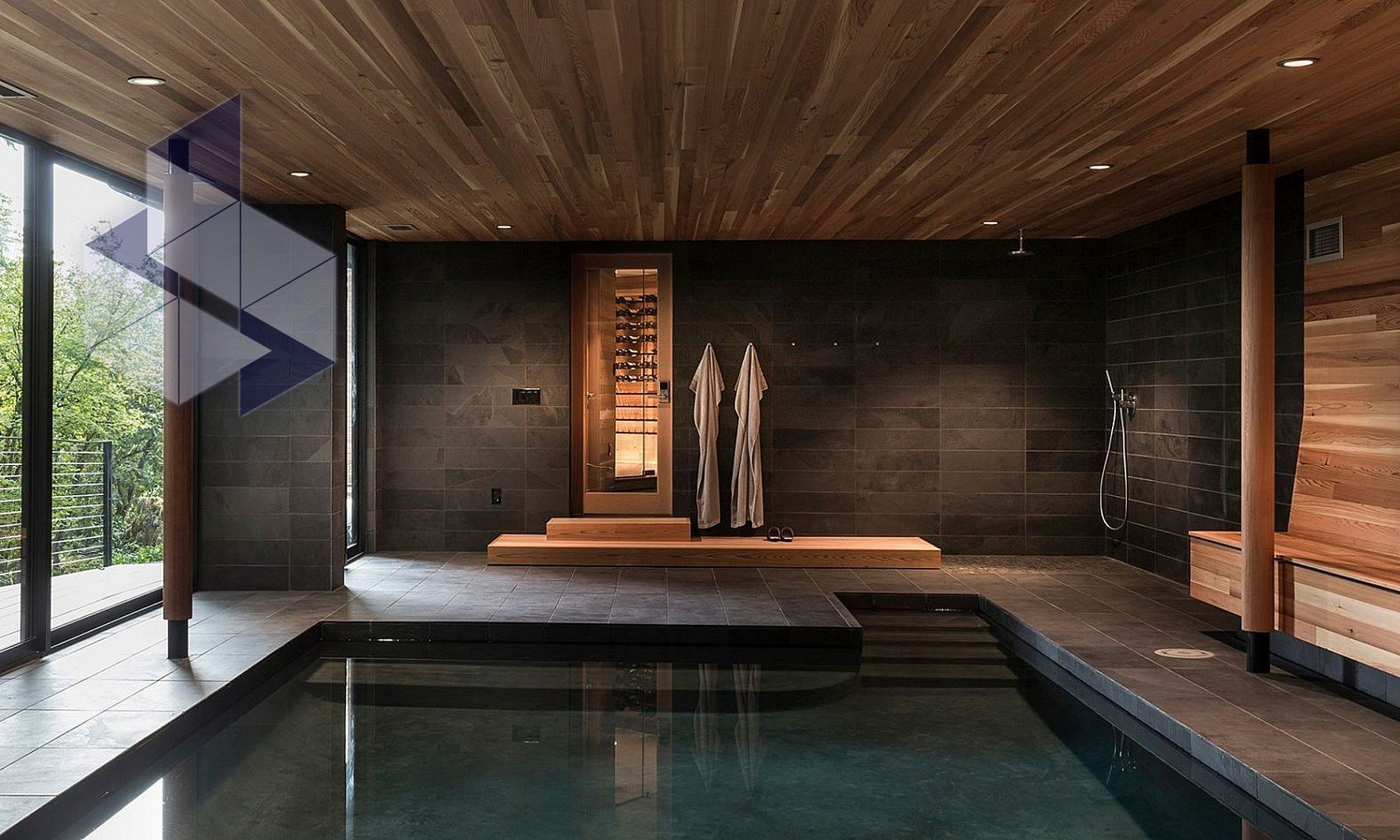 Интерьер бани: дизайн и варианты оформления