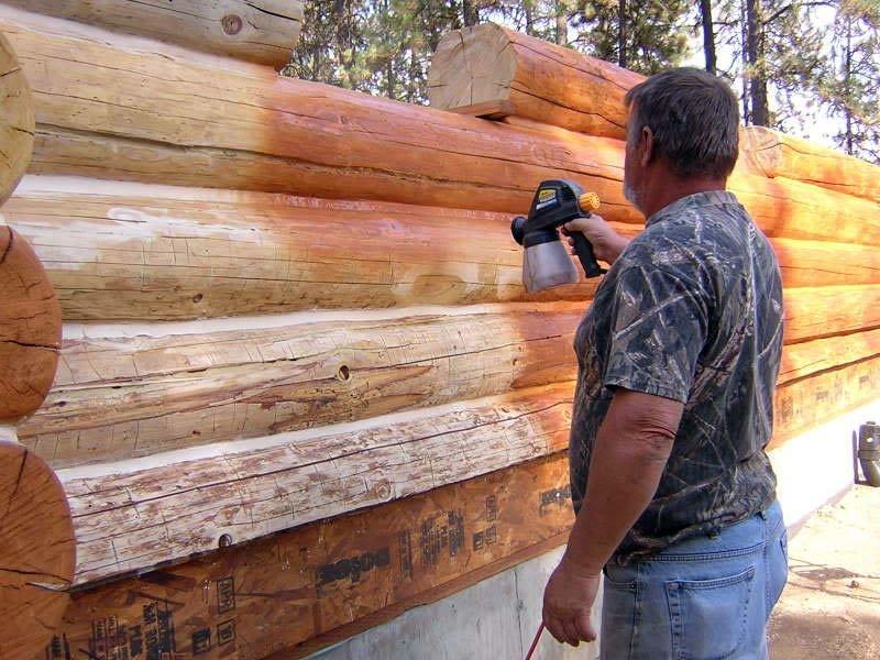 Как и чем лучше обработать сруб дома внутри своими руками. чем правильно обработать деревянный дом внутри?