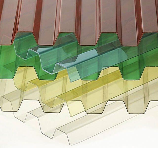 Разноцветный прозрачный шифер – сказочная игра оттенков во всех дизайнерских идеях