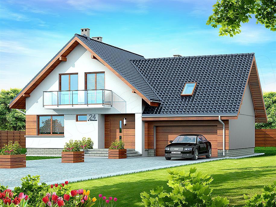Проект домов с баней и гаражом
