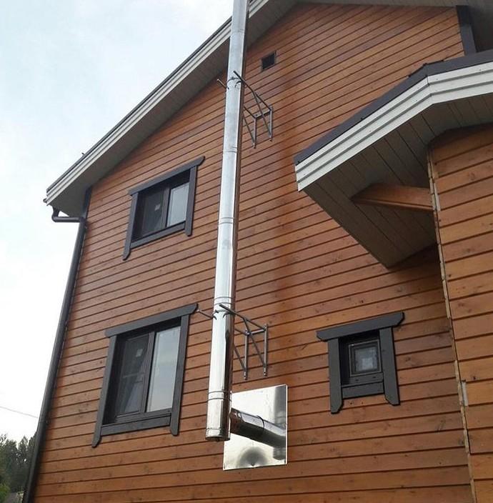 Проход дымохода через деревянное перекрытие - варианты монтажа