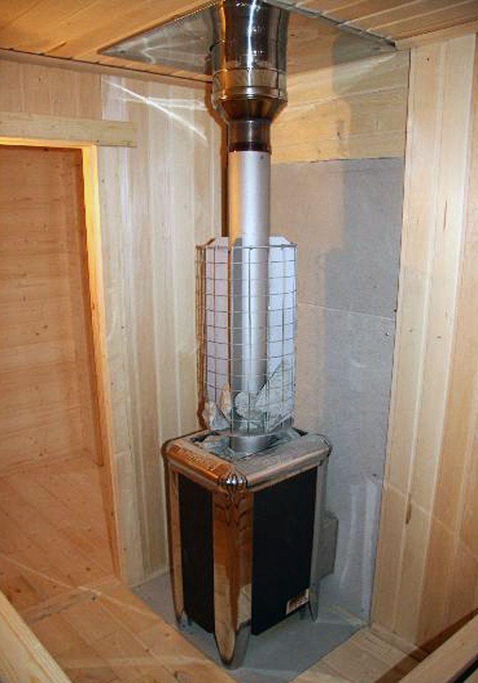 Устройство дымохода в бане для дровяной печи - лучшее отопление