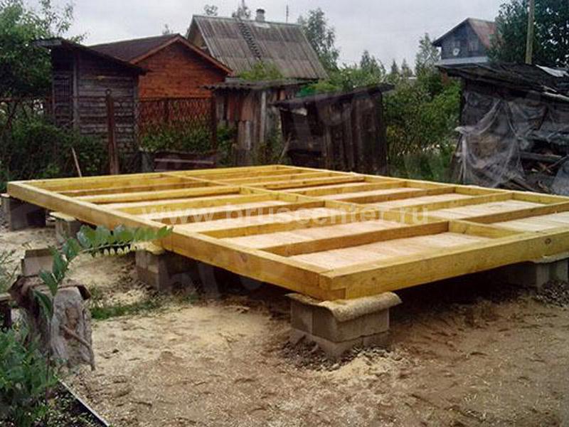 Строим основание для бани размером 4х6 м