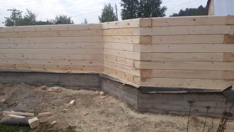 Что положить между фундаментом и брусом - строим баню или сауну