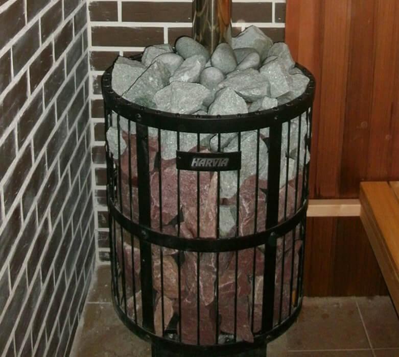 Как укладывать камни в банную печь на каменку: правила выбора и размещения камней